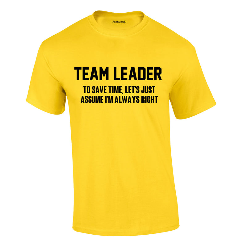 Team Leader Men's Tee In Yellow