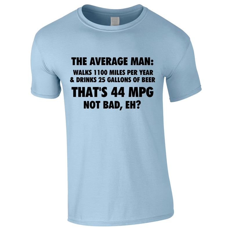 The Average Man 44MPG Tee In Sky