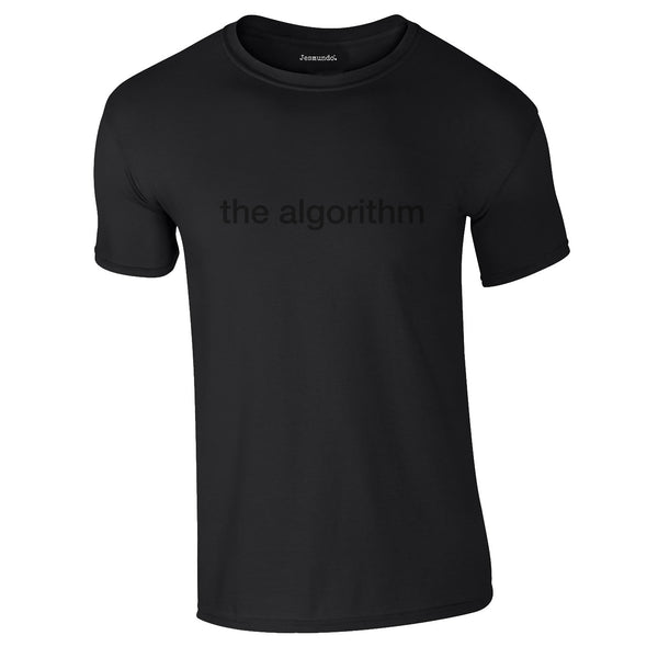 Algorithm Black On Black T Shirt