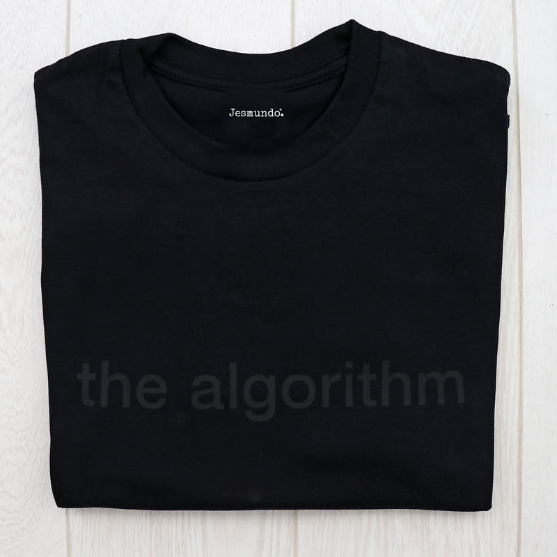 Social Media Algorithm T Shirt Black On Black