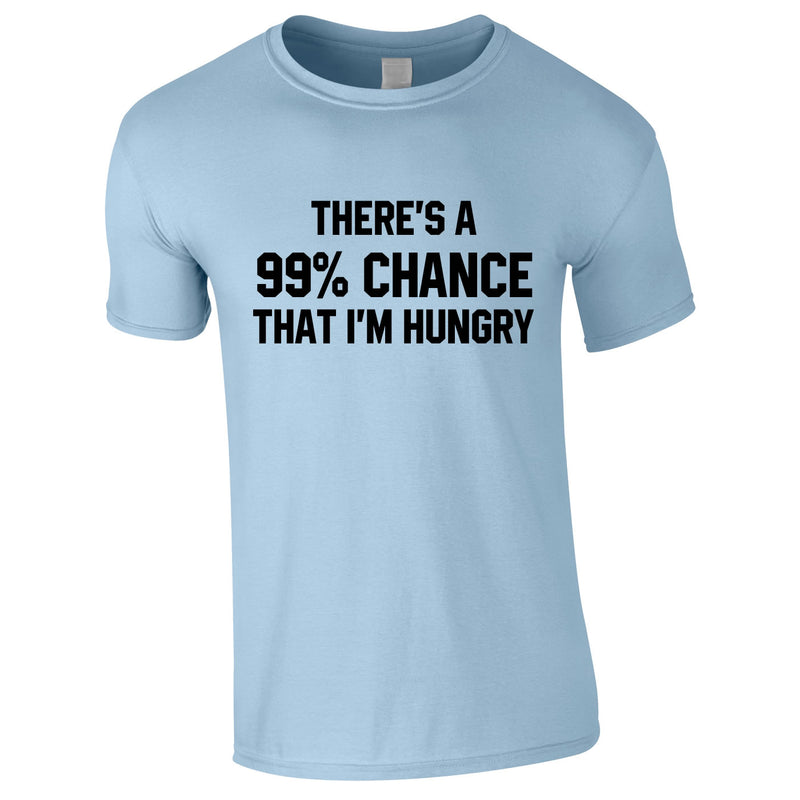 There's A 99% Chance That I'm Hungry Men's Tee In Sky