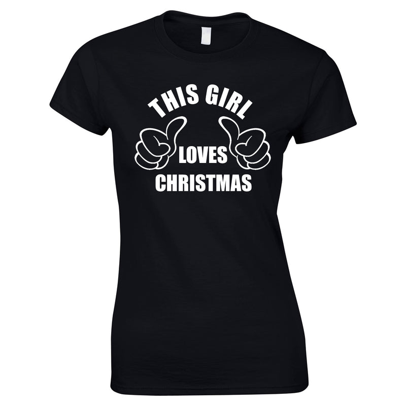 This Girl Loves Christmas Top In Black