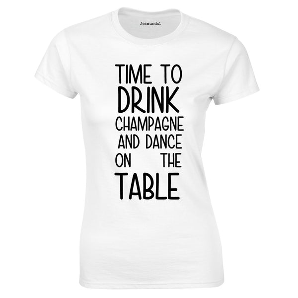 SALE - Time To Drink Champagne Womens Tee