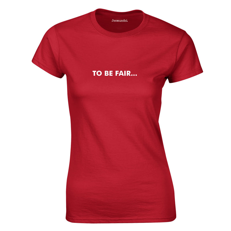 To Be Fair Ladies Top In Red