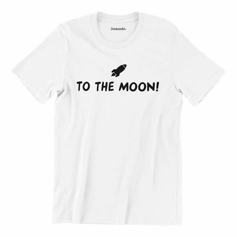 To The Moon T Shirt In White