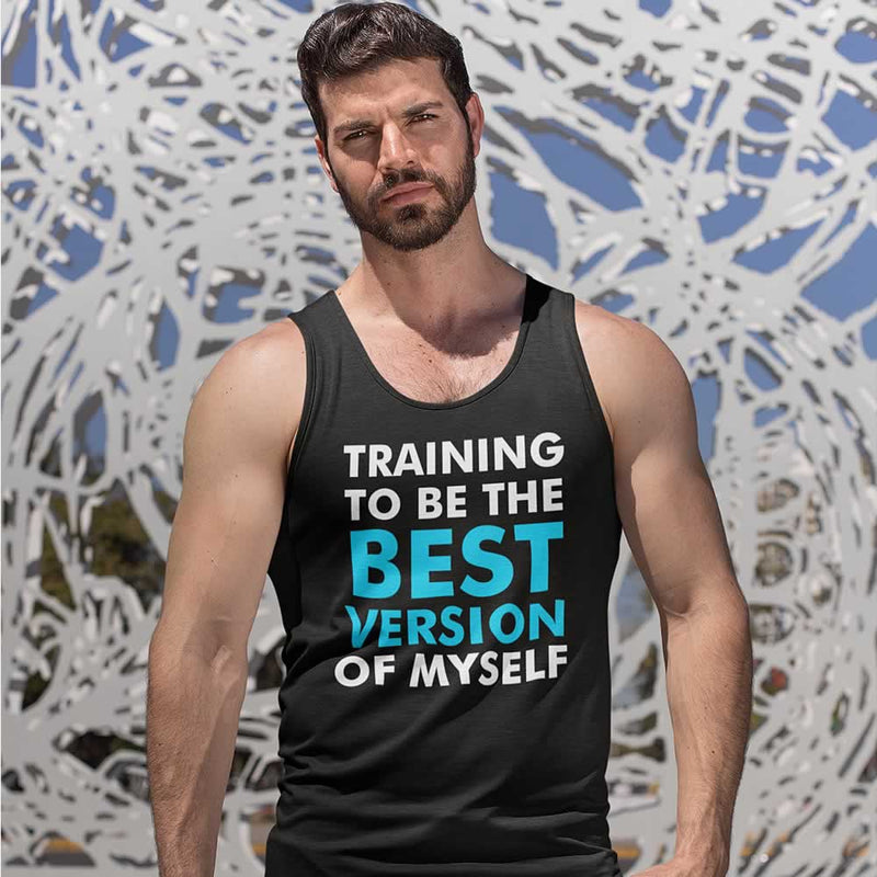 Training To Be The Best Version Of Myself Vest For Men