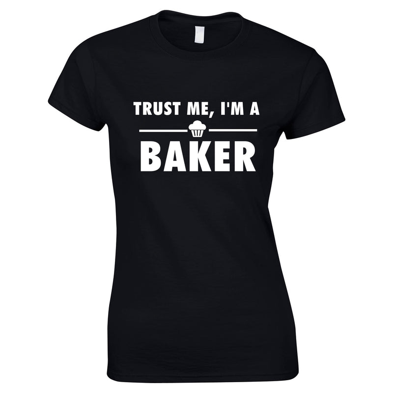 Trust Me I'm A Baker Top In Black