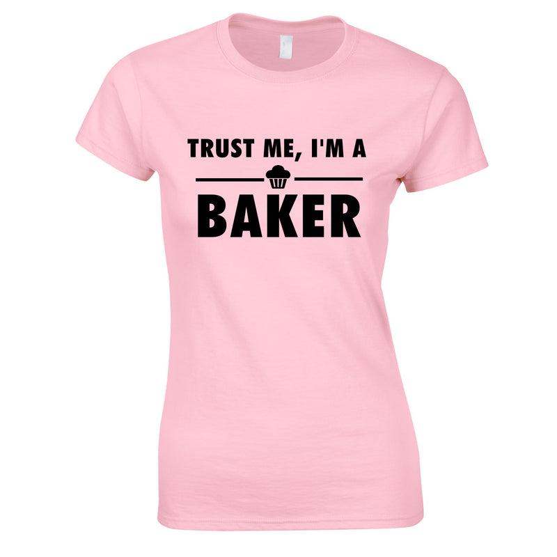 Trust Me I'm A Baker Top In Pink
