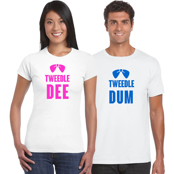 Tweedle Dum And Tweedle Dee Couples T Shirts