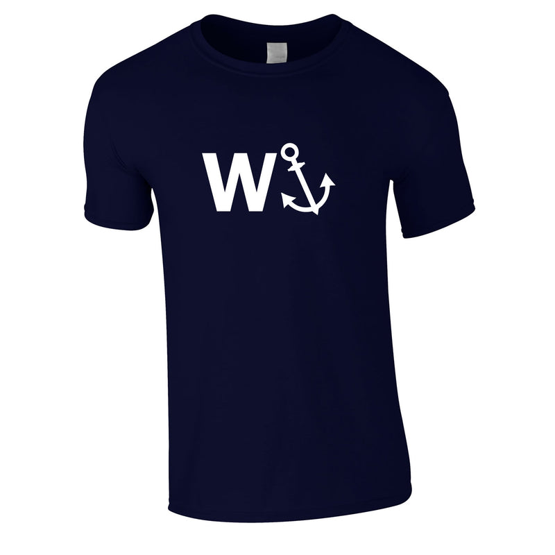 W-Anchor Tee In Navy