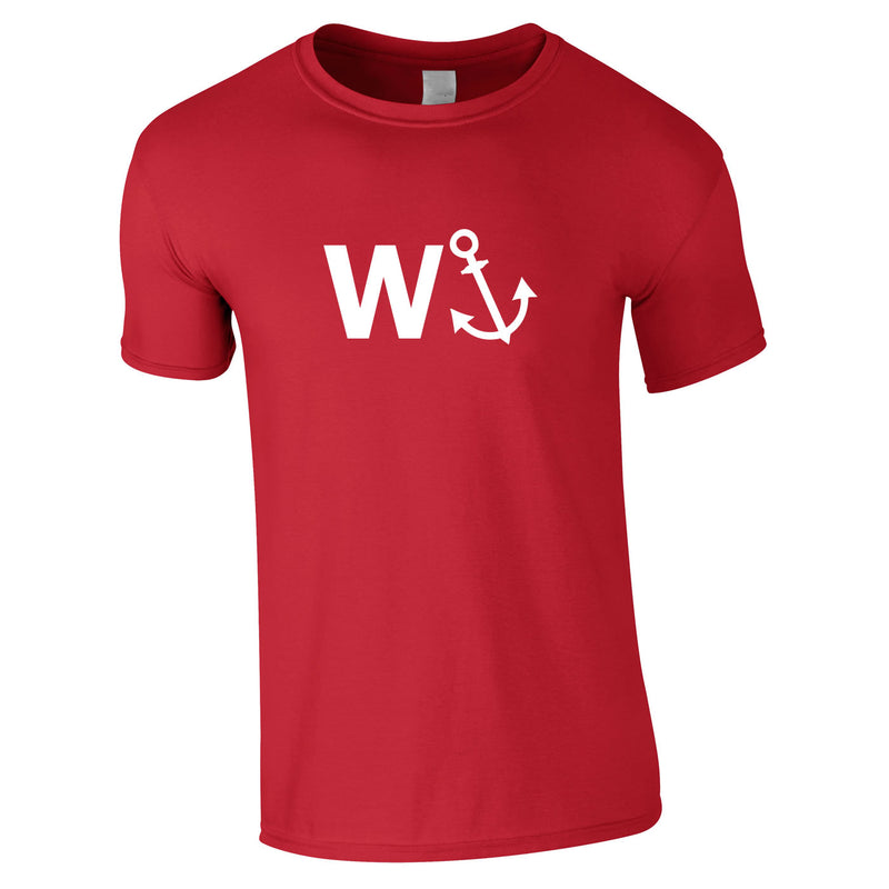 W-Anchor Tee In Red