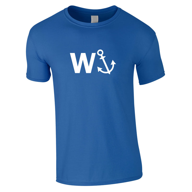 W-Anchor Tee In Royal
