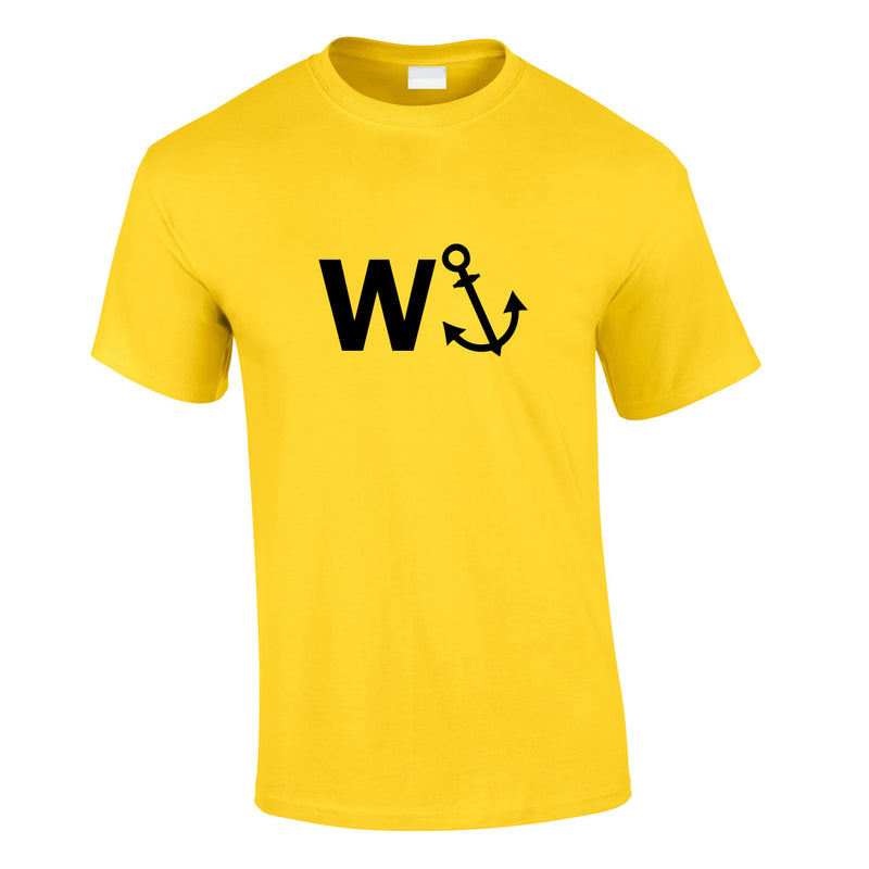 W-Anchor Tee In Yellow