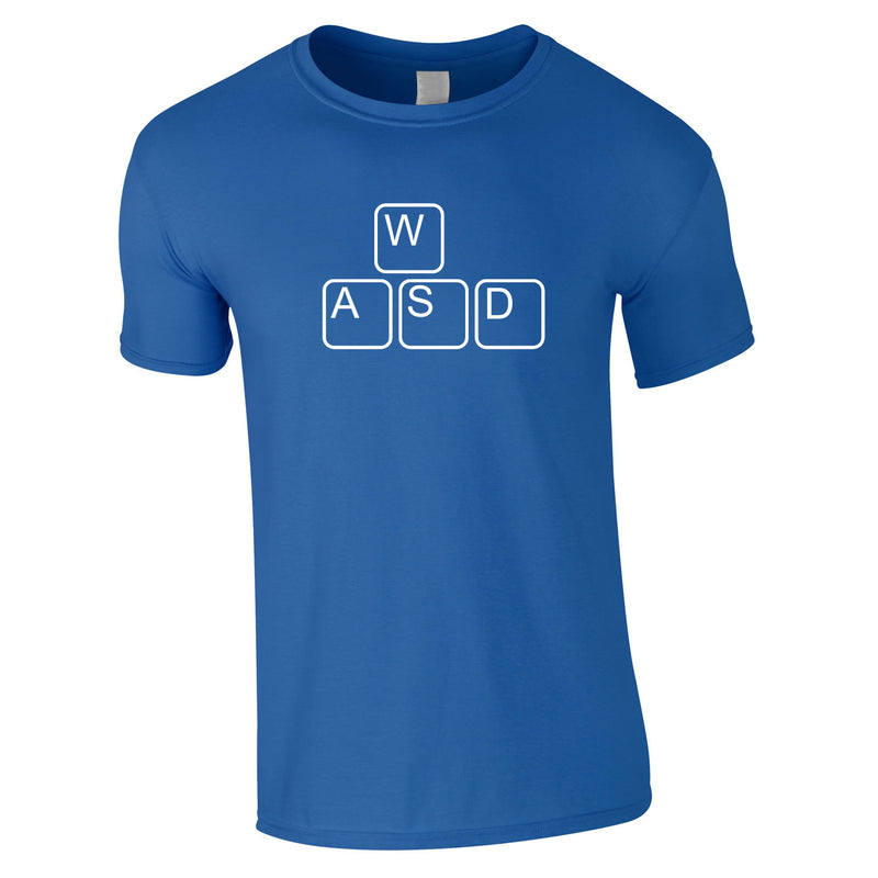 WASD Gaming Keyboard Tee In Royal