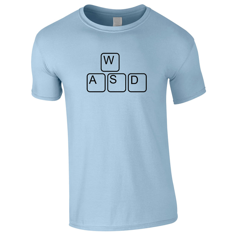 WASD Gaming Keyboard Tee In Sky