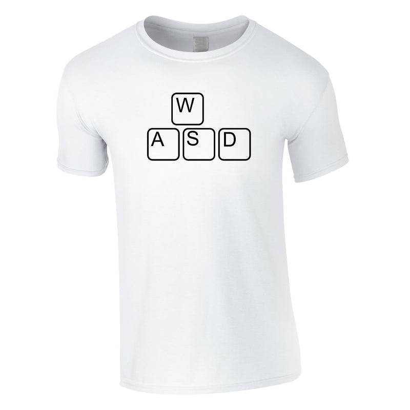 WASD Gaming Keyboard Tee In White