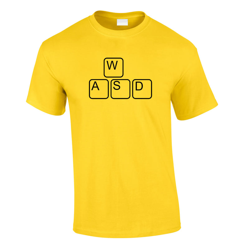 WASD Gaming Keyboard Tee In Yellow