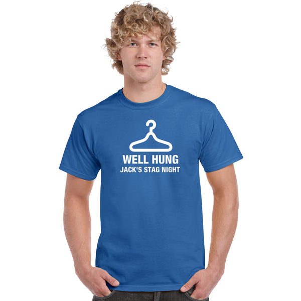 Well Hung Stag Night Custom Printed T Shirts