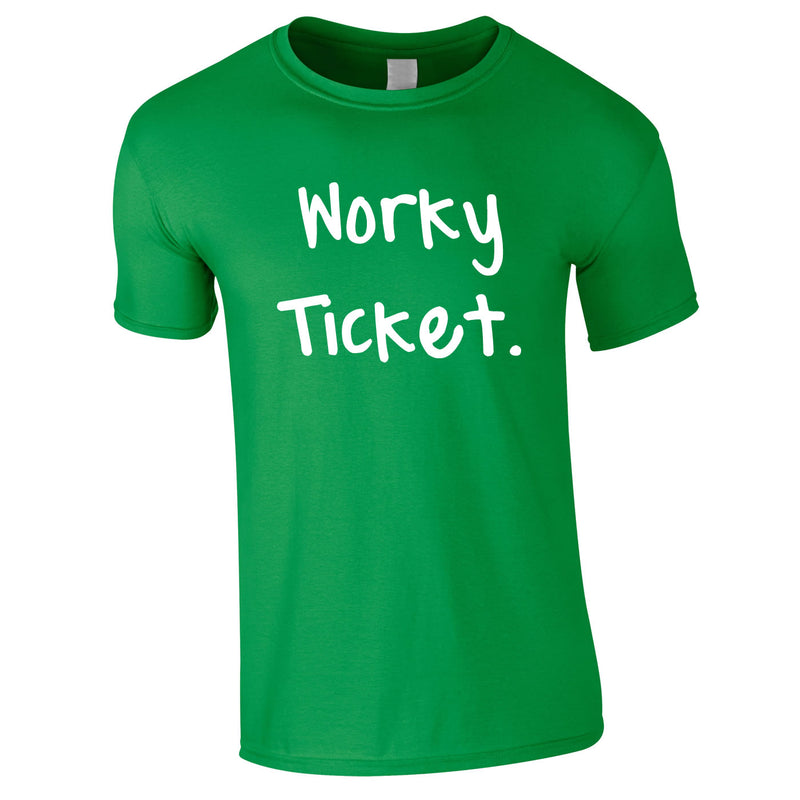 Worky Ticket Men's Tee In Green