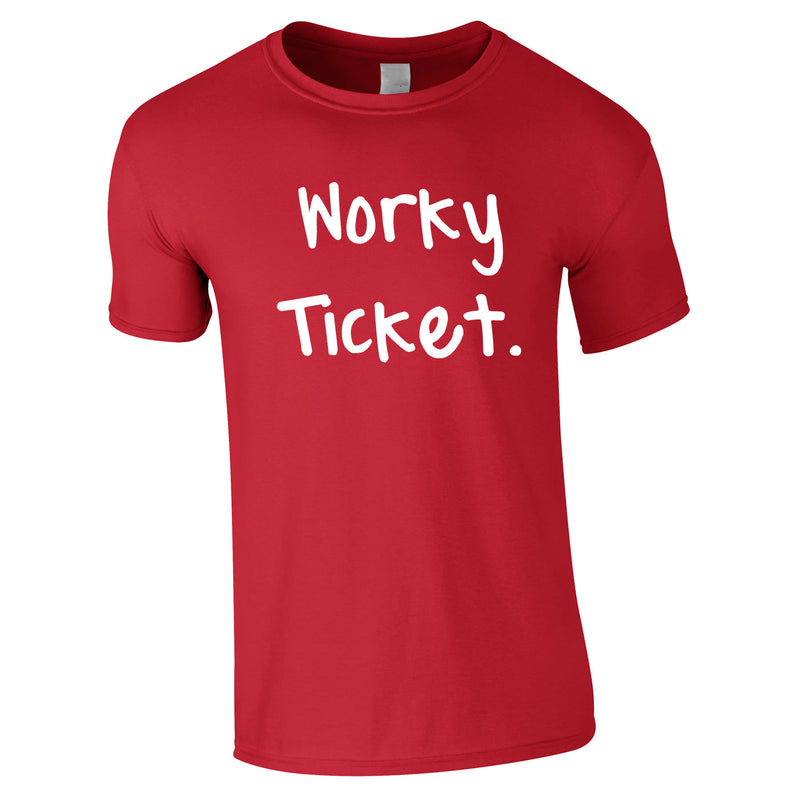 Worky Ticket Men's Tee In Red