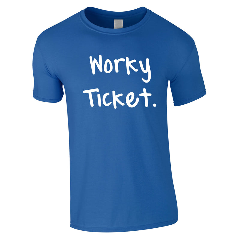 Worky Ticket Men's Tee In Royal