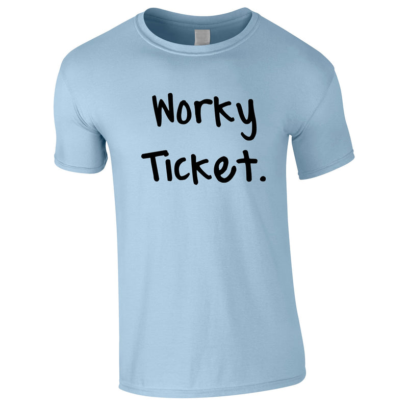 Worky Ticket Men's Tee In Sky