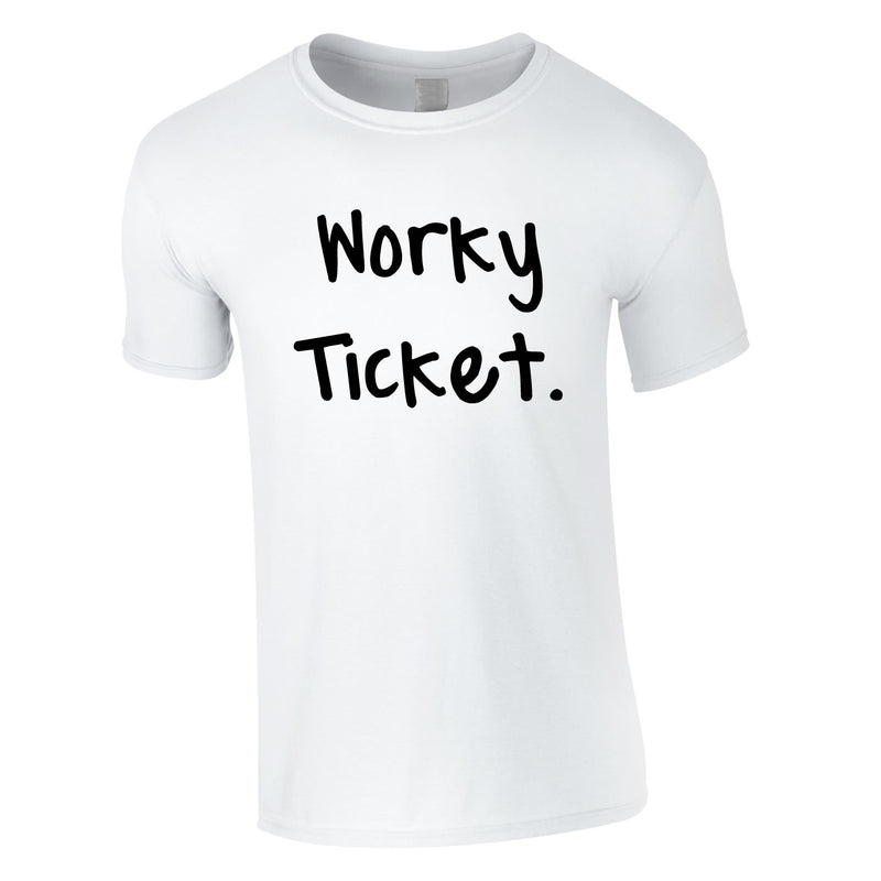 Worky Ticket Men's Tee In White