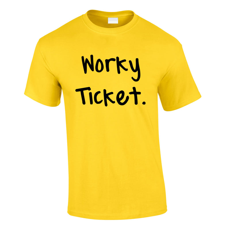 Worky Ticket Men's Tee In Yellow