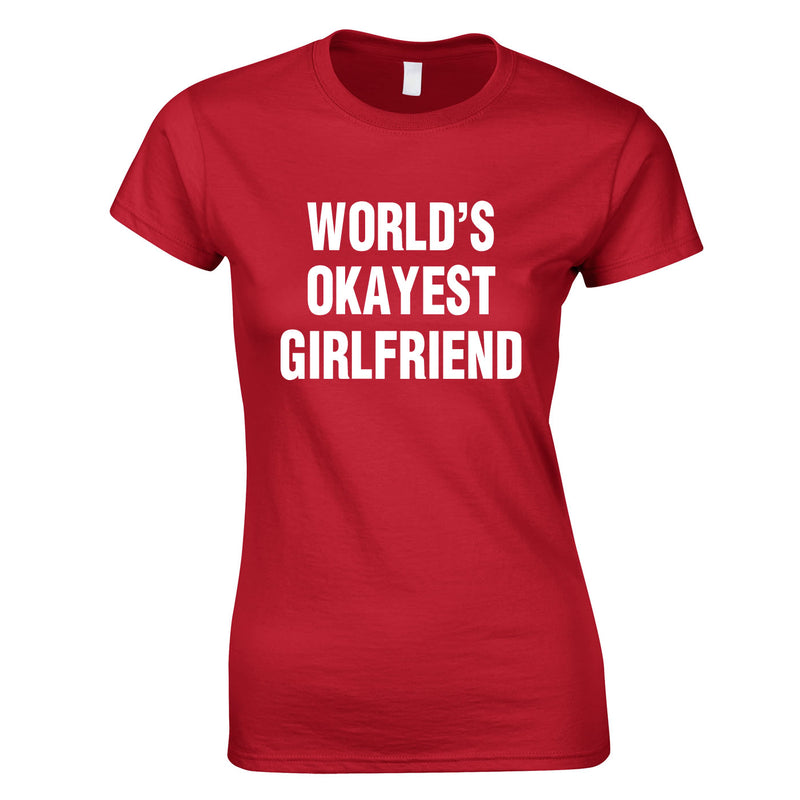 World's Okayest Girlfriend Top In Red