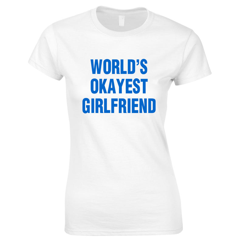 World's Okayest Girlfriend Top In White