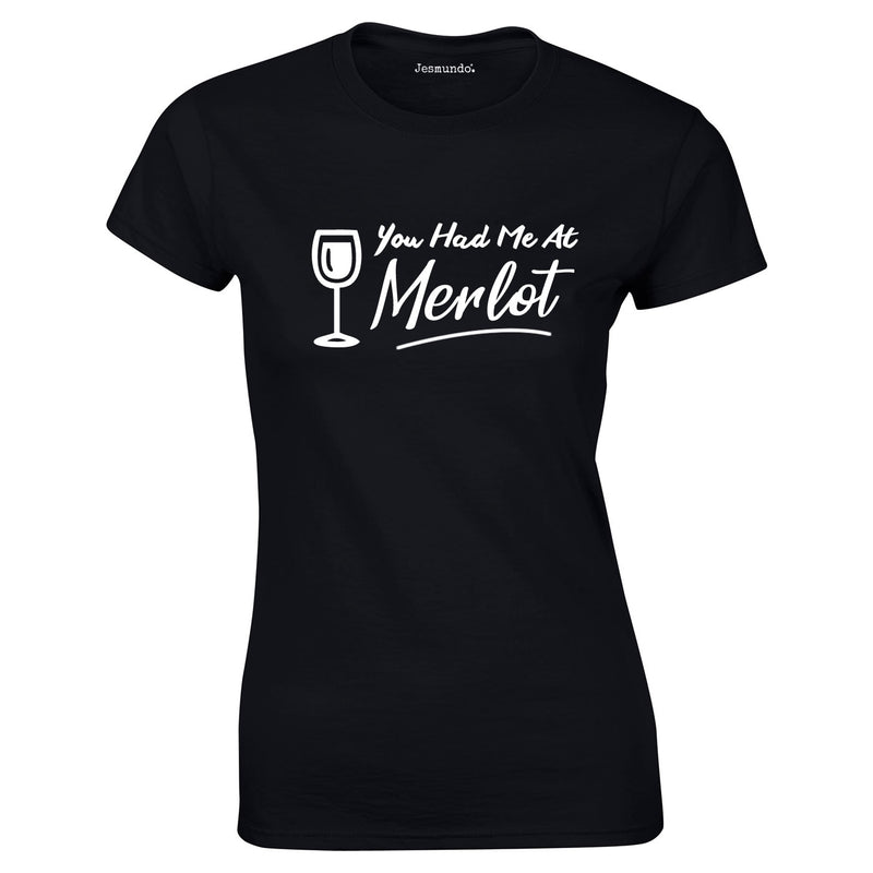 You Had Me At Merlot Women's Top In Black
