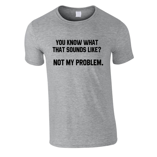 You Know What That Sounds Like? Not My Problem Tee In Grey