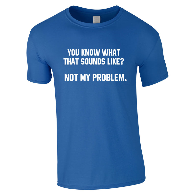 You Know What That Sounds Like? Not My Problem Tee In Royal