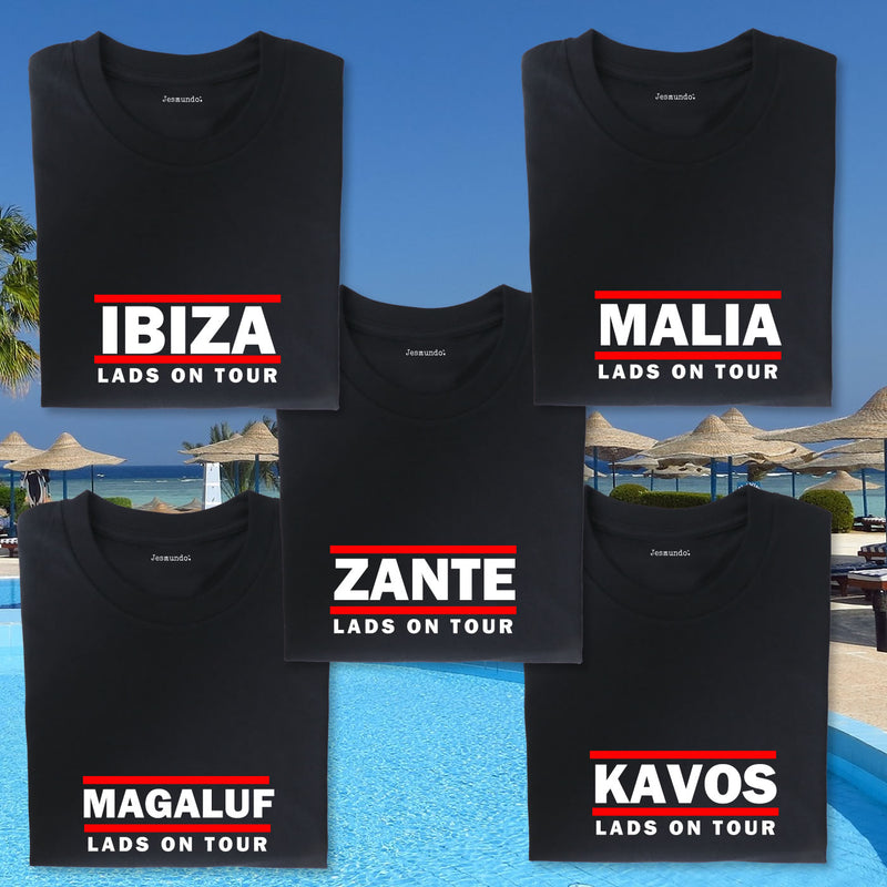 RUN IBZ Ibiza Lads Holiday T-Shirt