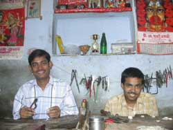 Silversmiths at Asha Handicrafts, India