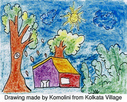 Drawing made by Komolini from Kolkata Village