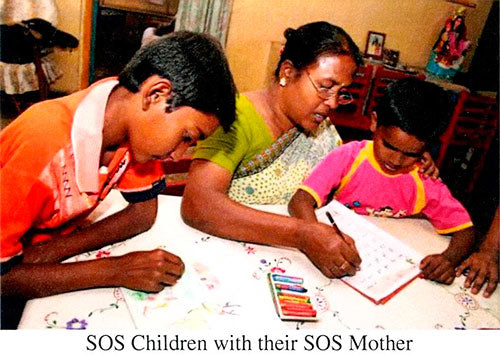 SOS Children with their SOS Mother