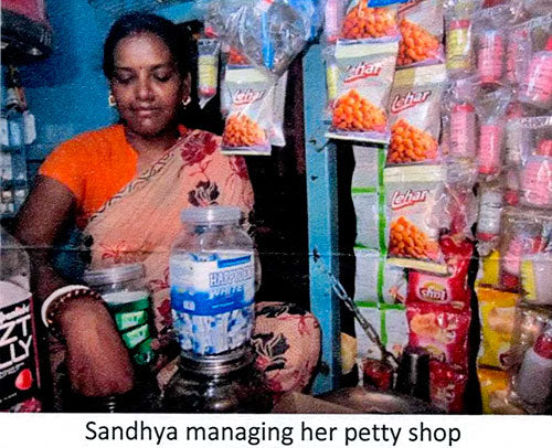 Sandhya Managing her Petty Shop