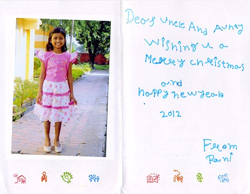 Rani's Christmas/New Year card 2011/2012