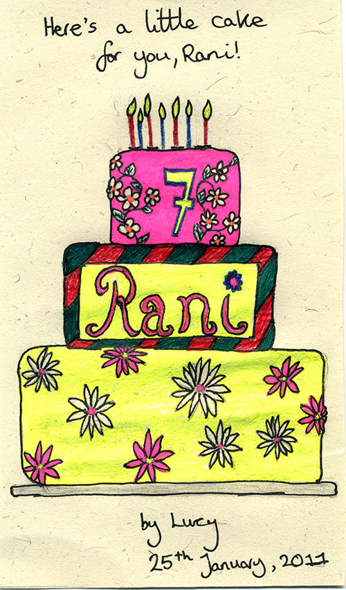 Rani's Cake - 7 years birthday