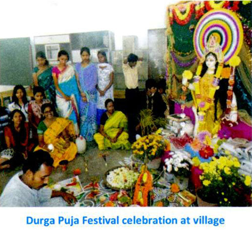 Durga Puja Festival celebration at village