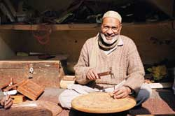 Specialist wood work artisan from Aspiration, India
