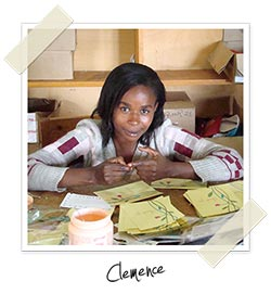 Clemence, one of CfA's card makers