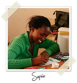 Sophie, one of CfA's card makers