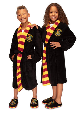 Harry Potter Hogwarts Fleece Bath Robe - Kids