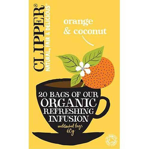 Clipper Orange & Coconut Tea - Box of 20 Bags