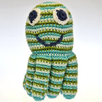Fair Trade Crocheted Octopus Rattle - Blue/Green
