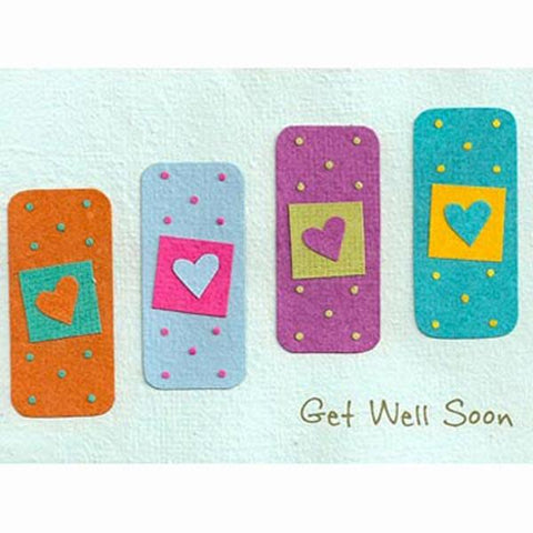 Fair Trade Get Well Soon Card - 'Get Well Plasters'
