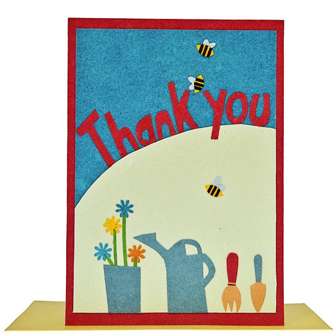 Fair Trade Thank You Card - 'Gardeners Thanks'