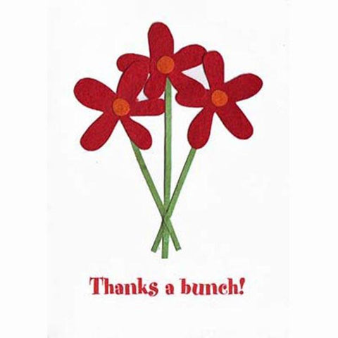 Fair Trade Thank You Card - 'Thanks a Bunch!'